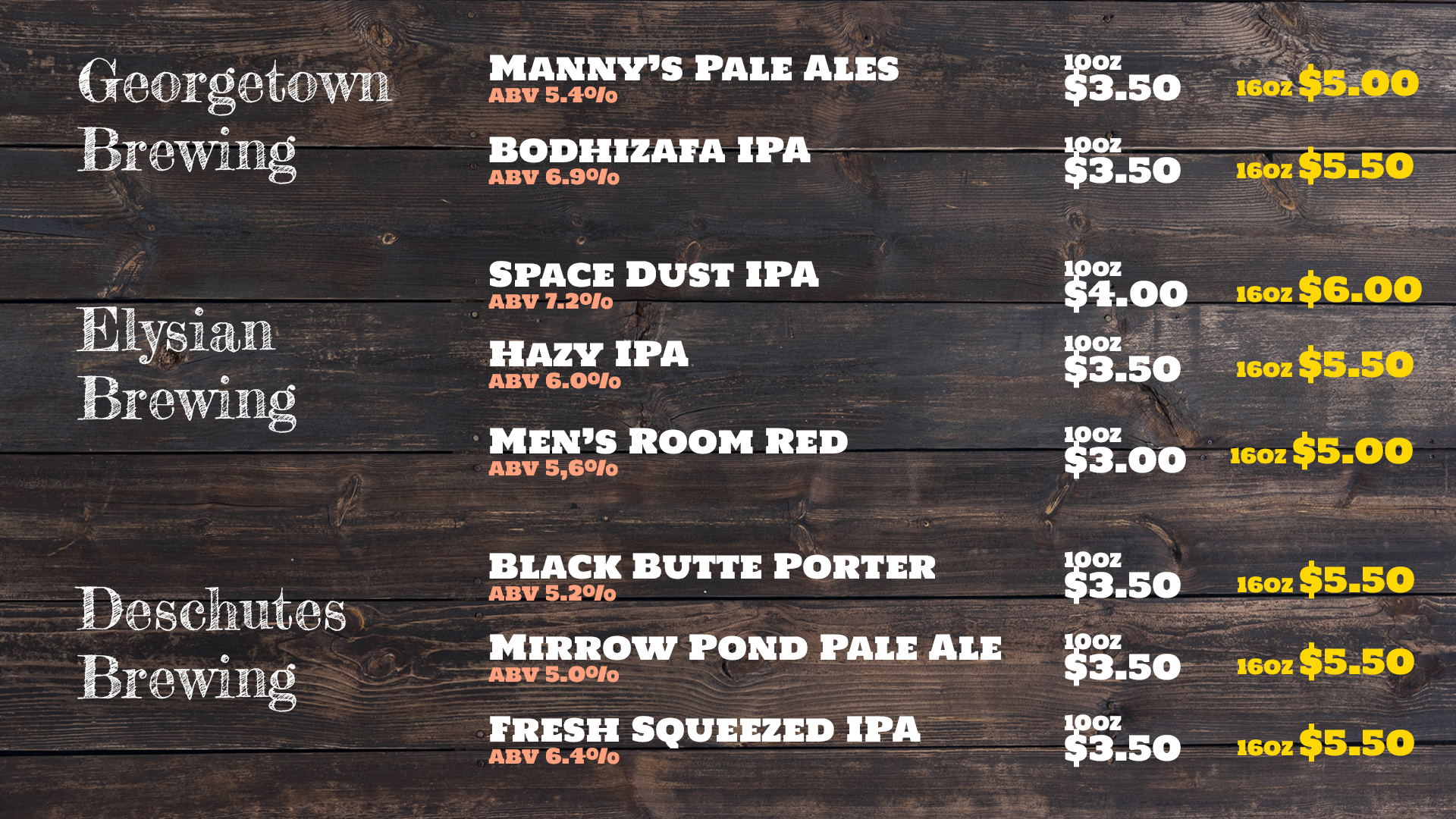 generic-beer-list - horizontal